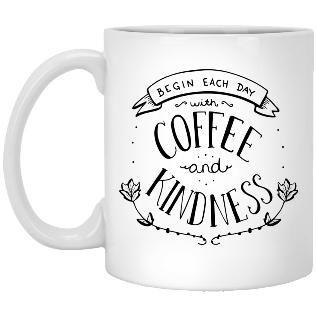 Coffee And Kindness 11 oz. White Mug