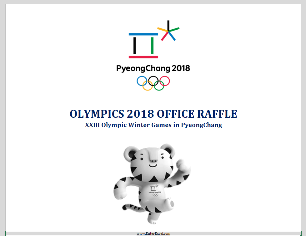 Olympics 2018 Office Raffle