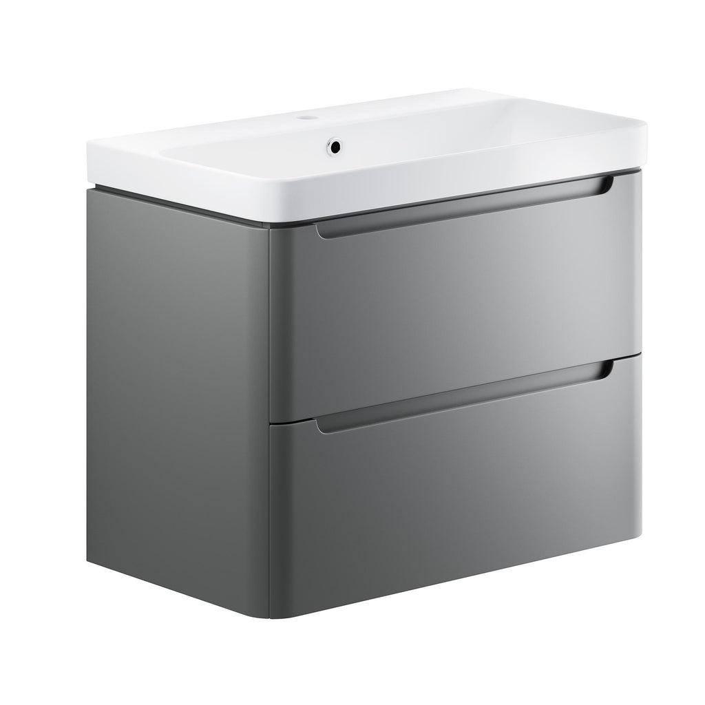 Lambra 800mm Wall Hung Cloakroom Vanity Unit & Basin