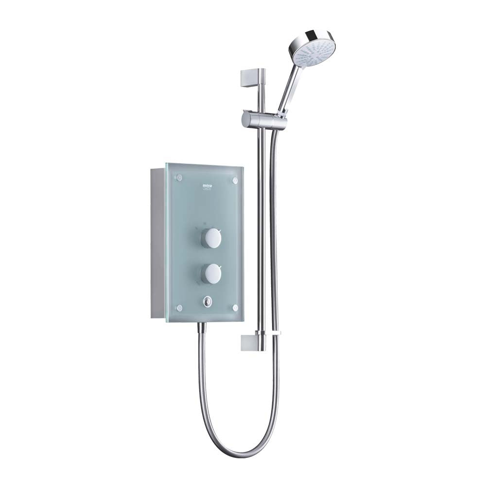 Mira Azora 9.8kW Thermostatic Shower Frosted Glass