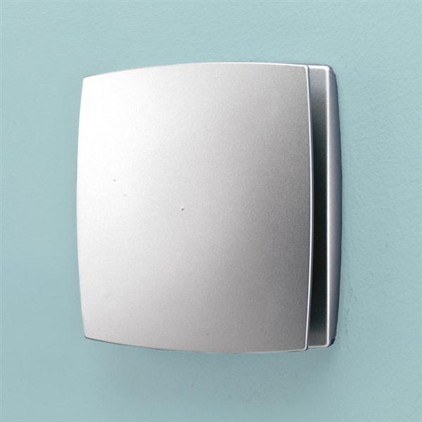 Breeze Wall Mounted Matt Silver - Timer & Humidity