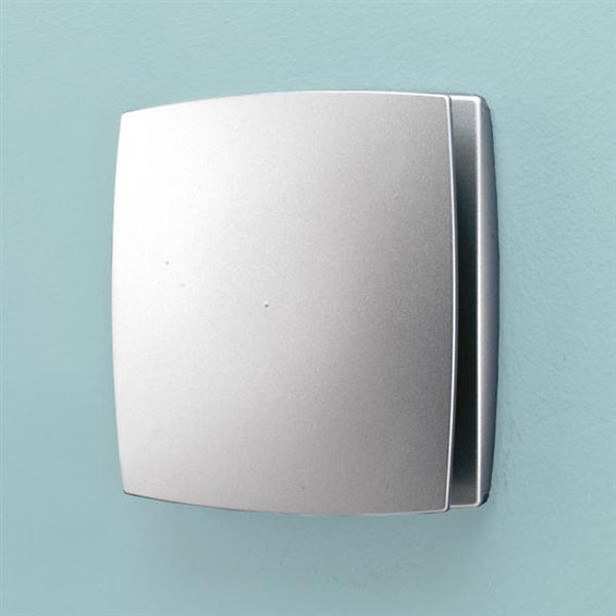 Breeze Wall Mounted Matt Silver - Timer