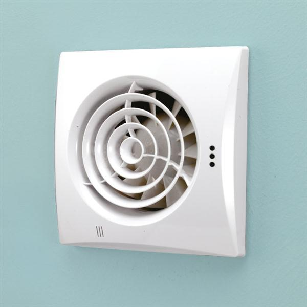 Hush Wall Mounted White - Timer & Humidity
