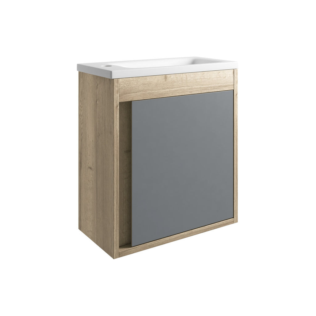 Senzo 500mm Wall Hung Cloakroom Vanity Unit & Basin