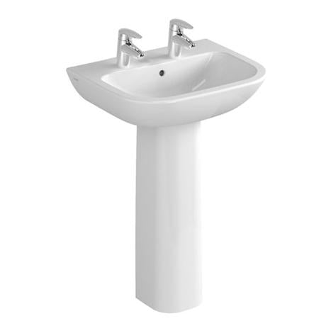 S20 Basin & Full Pedestal (2 Tap Hole)