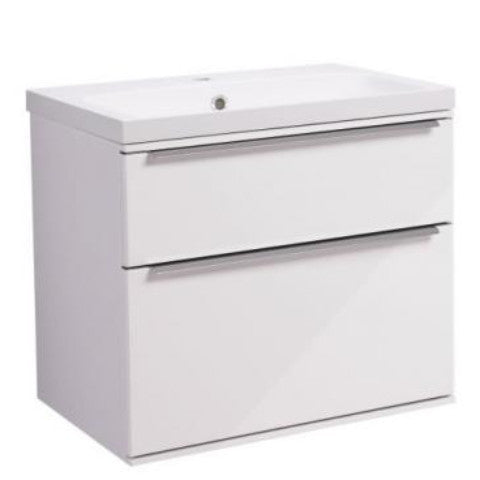 Scheme 600mm Wall Mounted Unit with Double Drawers & Basin
