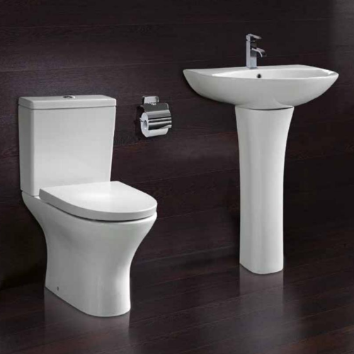 Aleo Round P Shape Bathroom Suite (RRP £754)