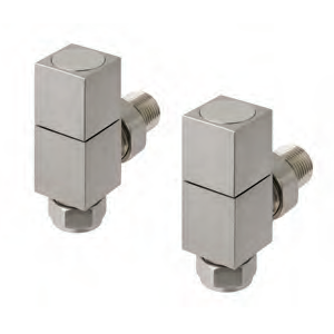 Angled Square Radiator Valves (Pair)