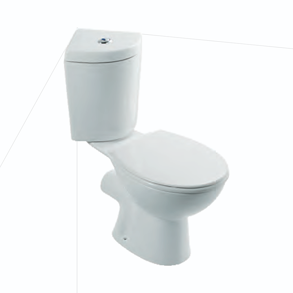 Cheverney Corner Close Coupled Toilet