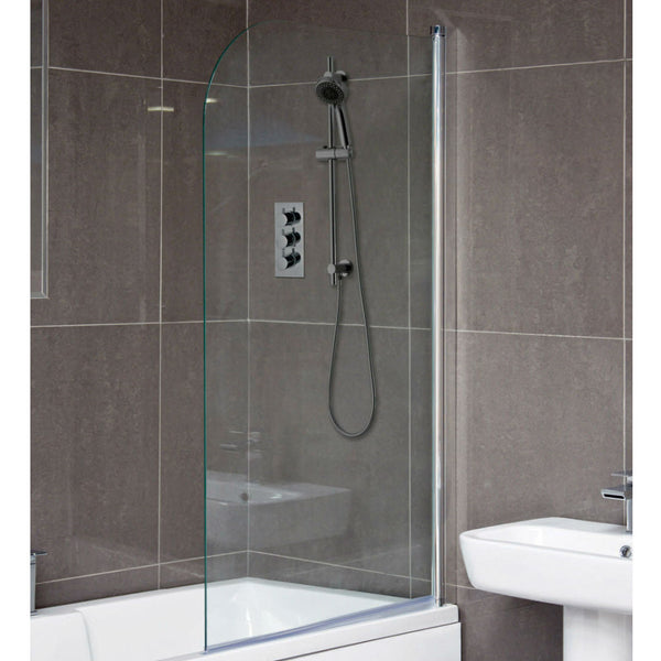 Milano Curved Bath Screen