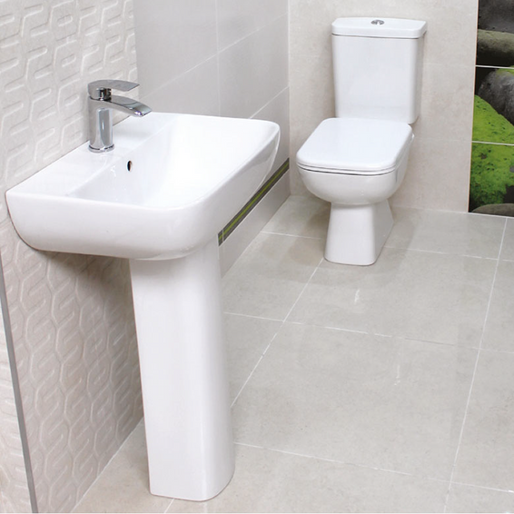 Diamond Luxury Square Design Toilet & Basin Pack