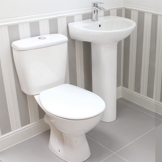 Spade Classic Round Design Toilet & Basin Pack