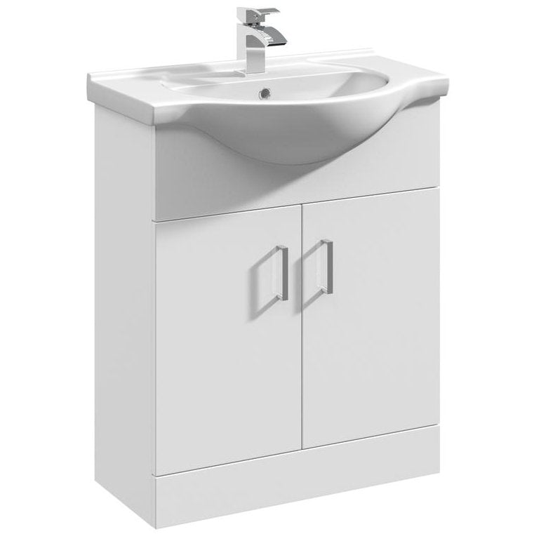 Mayford 2 Door 650mm Freestanding Vanity Unit & Basin