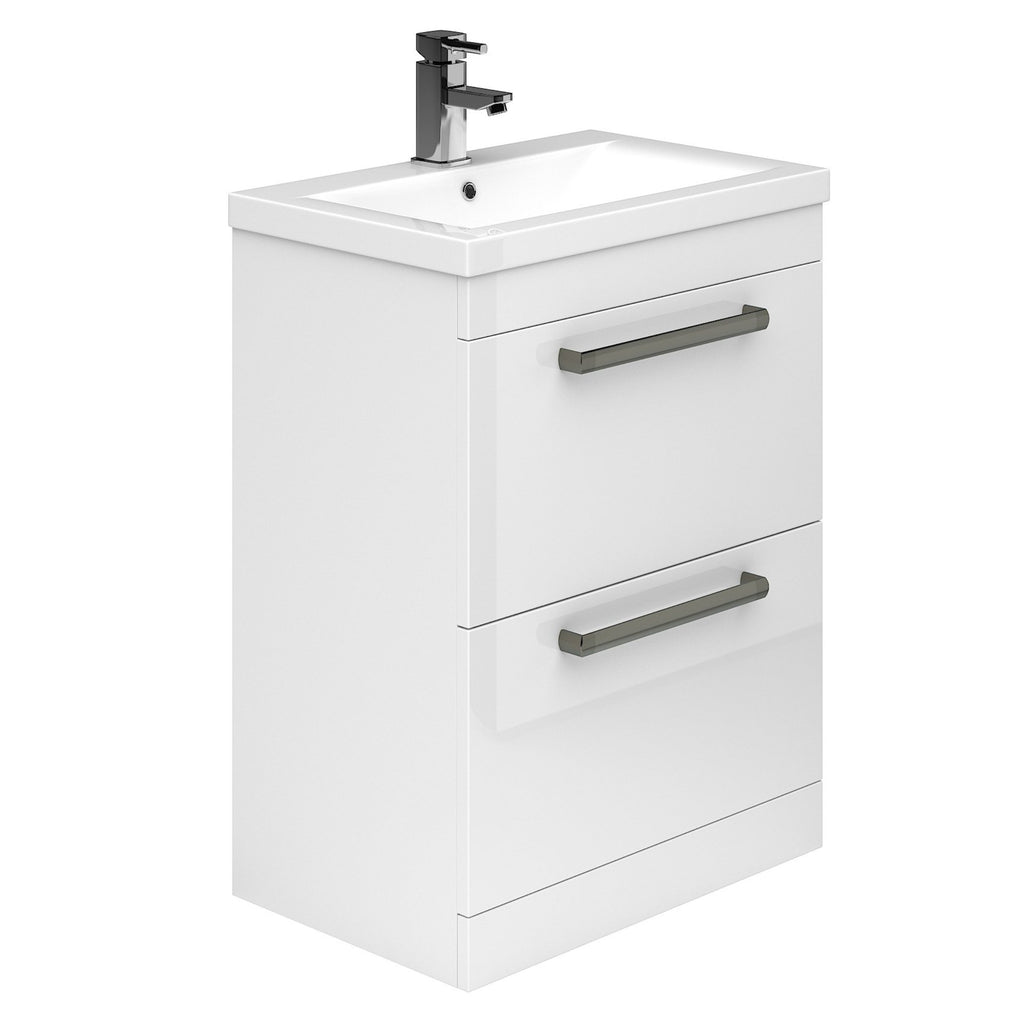 Carrs Floor Standing 2 Drawer Vanity Unit & Basin