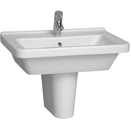 S50 Square Wash Basin & Semi Pedestal