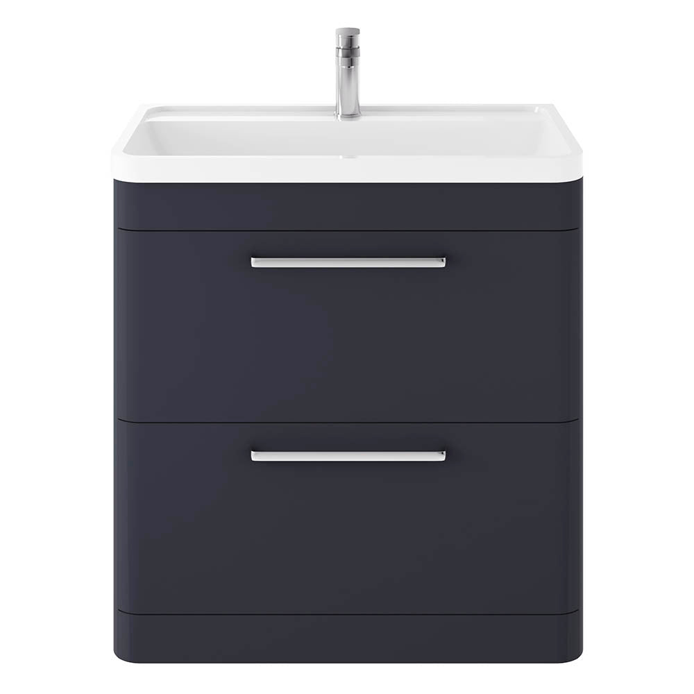 Solar 800mm 2 Drawer Floor Standing Vanity Unit & Basin