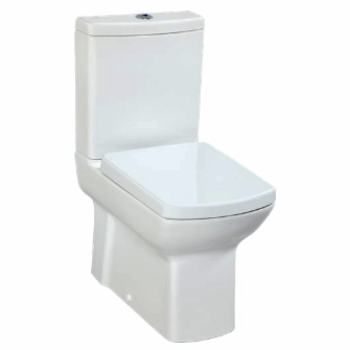 Lara Close Coupled Toilet - White, Red & Black