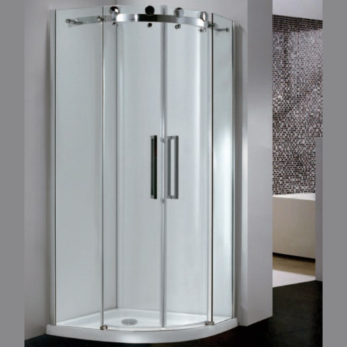 City Frameless DB Twin Door Equal Quadrant