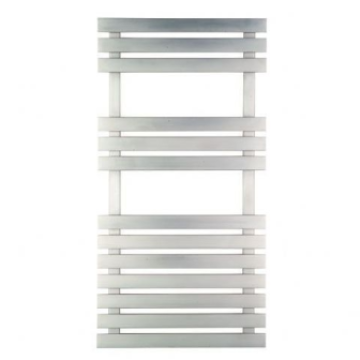 Biava Flat Designer Heated Stainless Steel Towel Rail