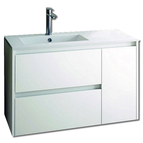 Sevilla 850mm Wall Hung Unit & Basin Complete