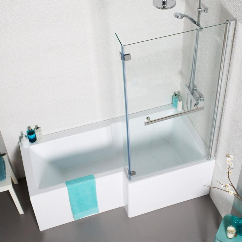 Tetris Square Shaped Shower Bath - 1500, 1700mm