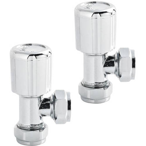 Chrome Angled Radiator Valve Pack