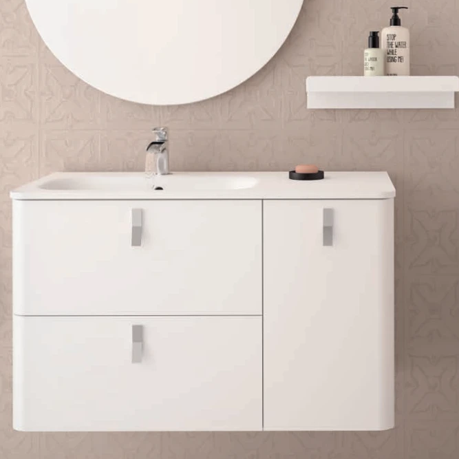 Uniiq Matt White Wall Hung Unit & Basin