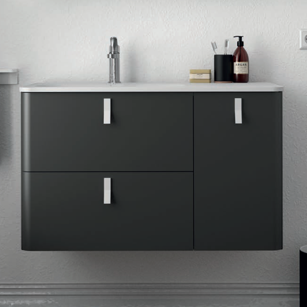 Uniiq Anthracite Wall Hung Unit & Basin