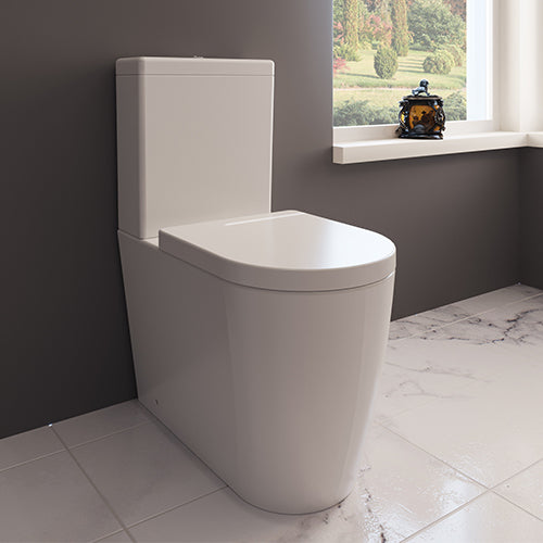 Zaffiro Rimless Close Coupled Toilet - Close to Wall