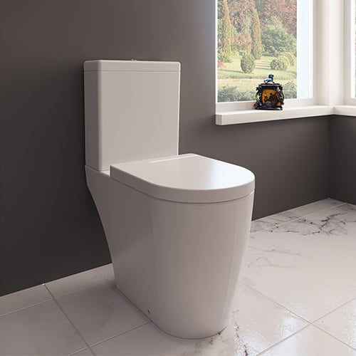 Zaffiro Rimless Close Coupled Toilet - Open Back
