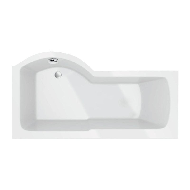 Adapt P Shaped Bath - 1500, 1700mm