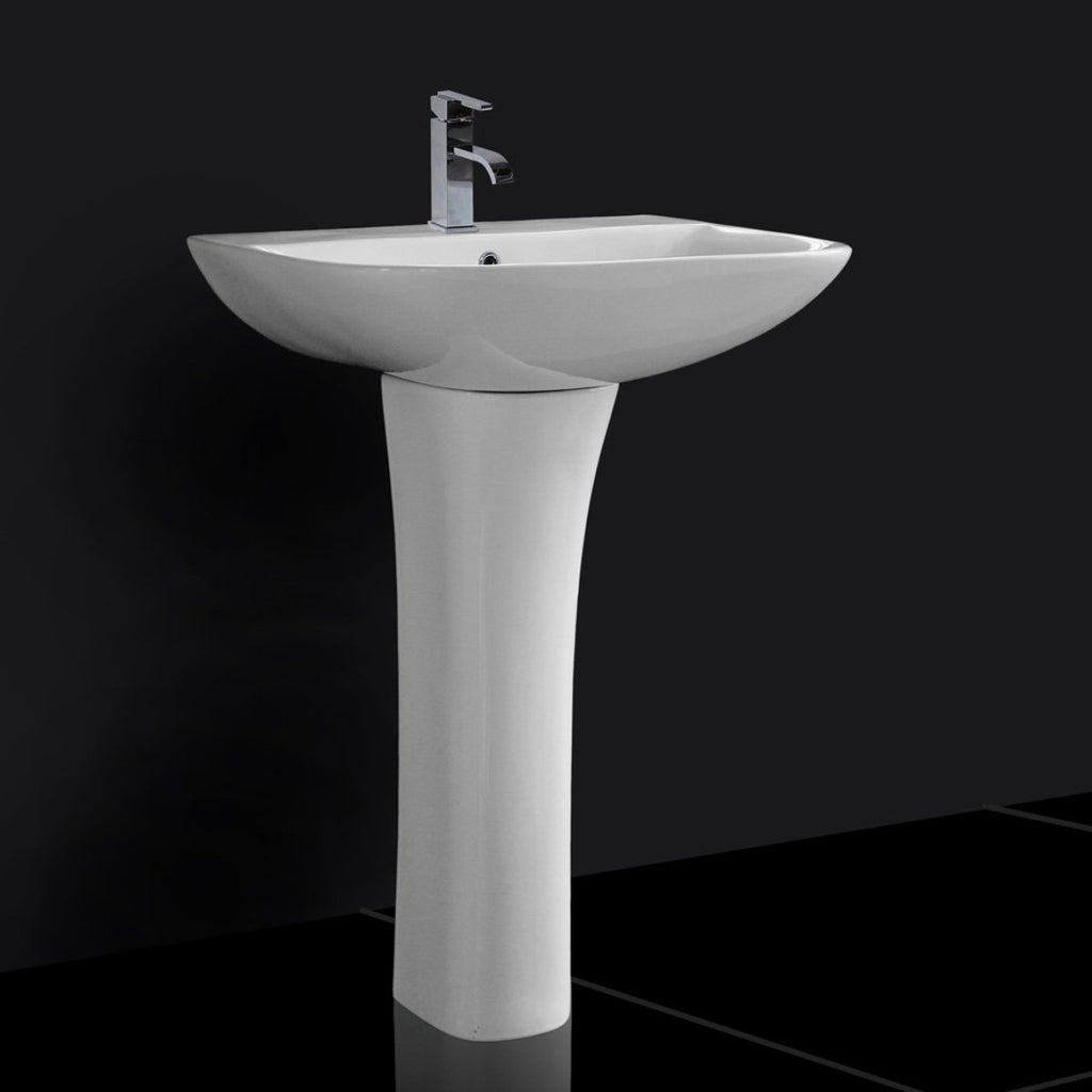 Aleo Square Basin & Full Pedestal