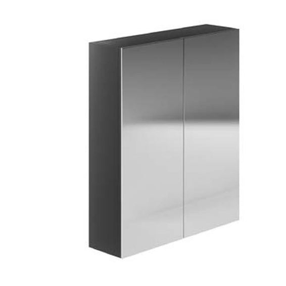 Avalon Graphite 600mm Double Mirrored Cabinet