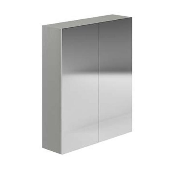 Avalon Dusk Grey 600mm Double Mirrored Cabinet