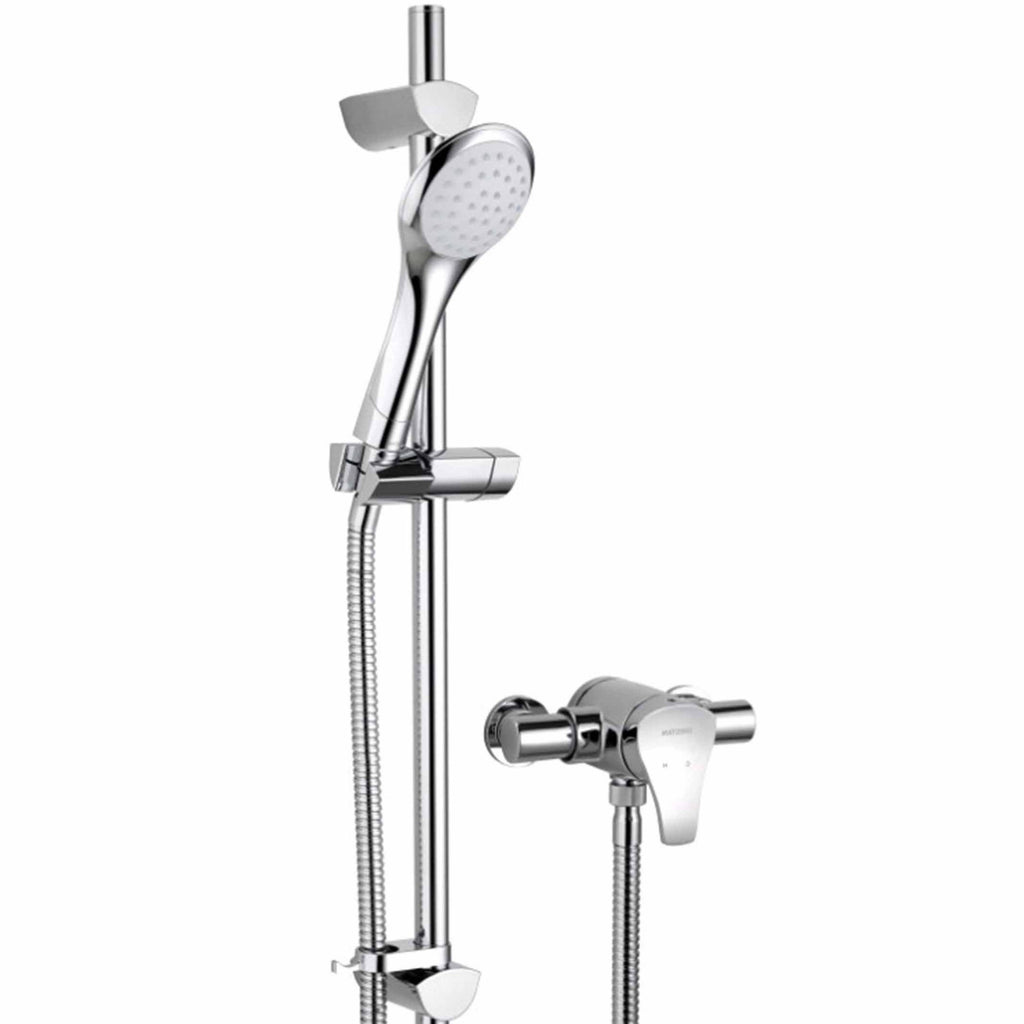 Capri Thermostatic Exposed Single Control & Shower Kit