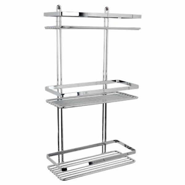 Satina Chrome 3 Tier Rectangle