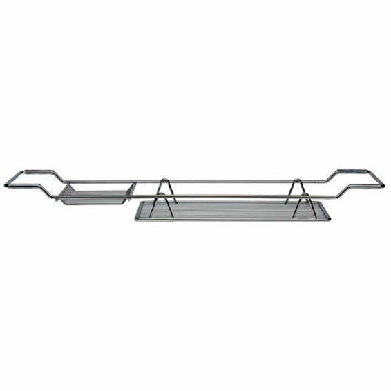 Satina Chrome Bath Rack