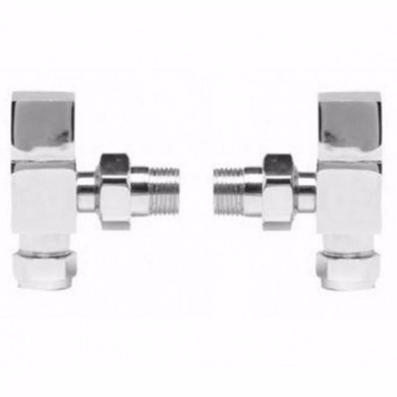 Pure Square Angled Radiator Valve Pack