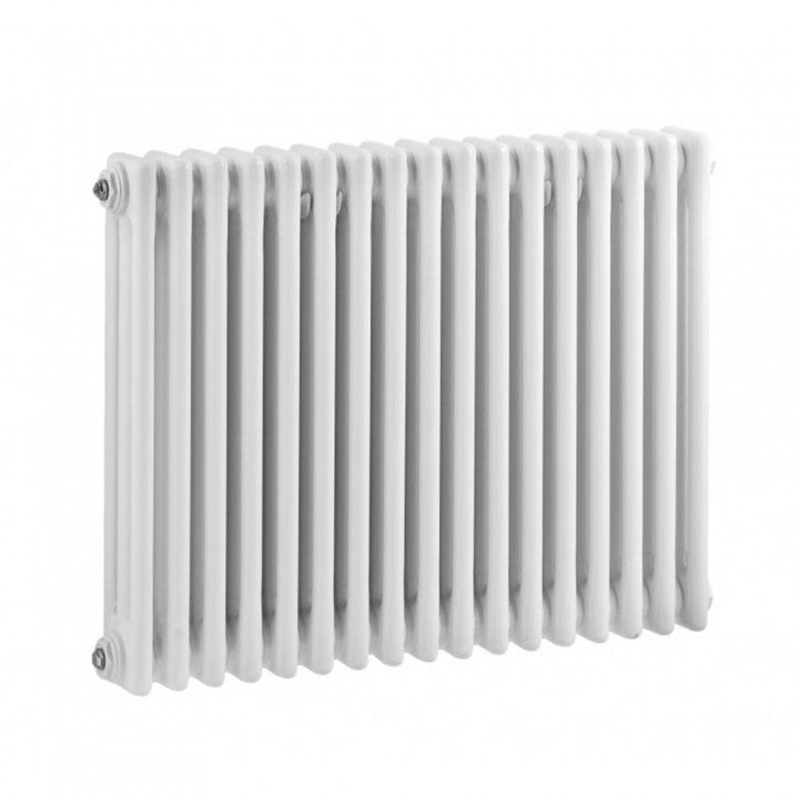 Horizontal Double Column High Gloss White Colosseum Radiator