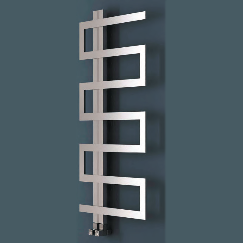 Ion Designer Heated Stainless Steel Towel Rail