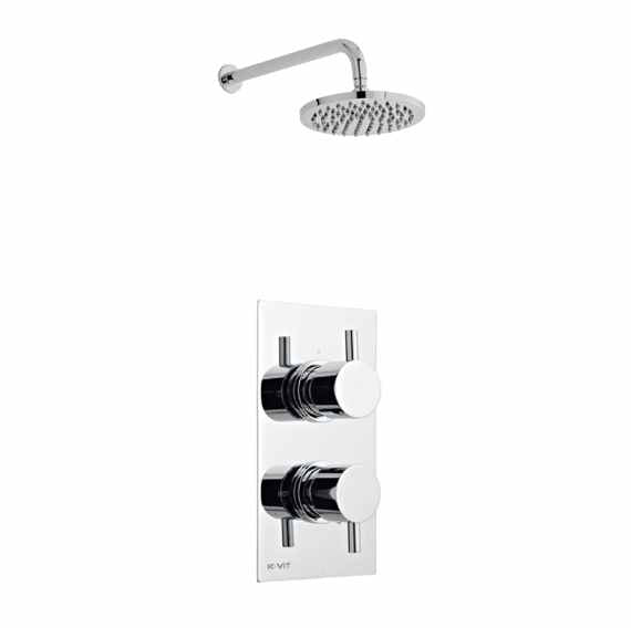 Plan Thermostatic Concealed Shower Valve Fixed Rain Head