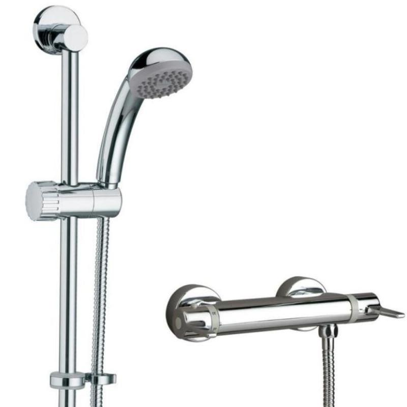 Design Utility Thermostatic Exposed Bar Valve & Shower Kit