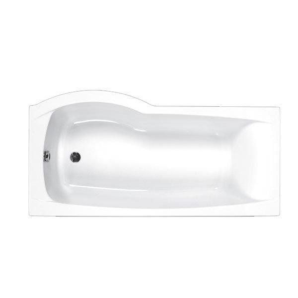Aspect P Shaped Shower Bath, Carronite - 1700mm