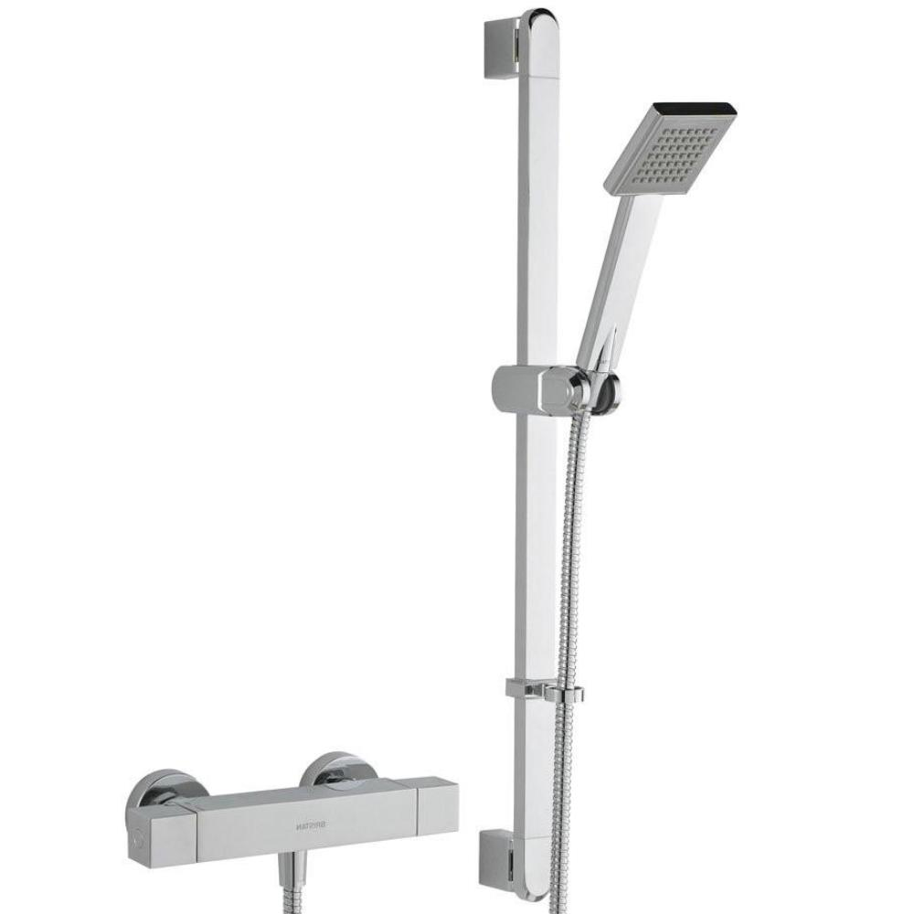 Quadrato Thermostatic Exposed Bar Valve & Shower Kit