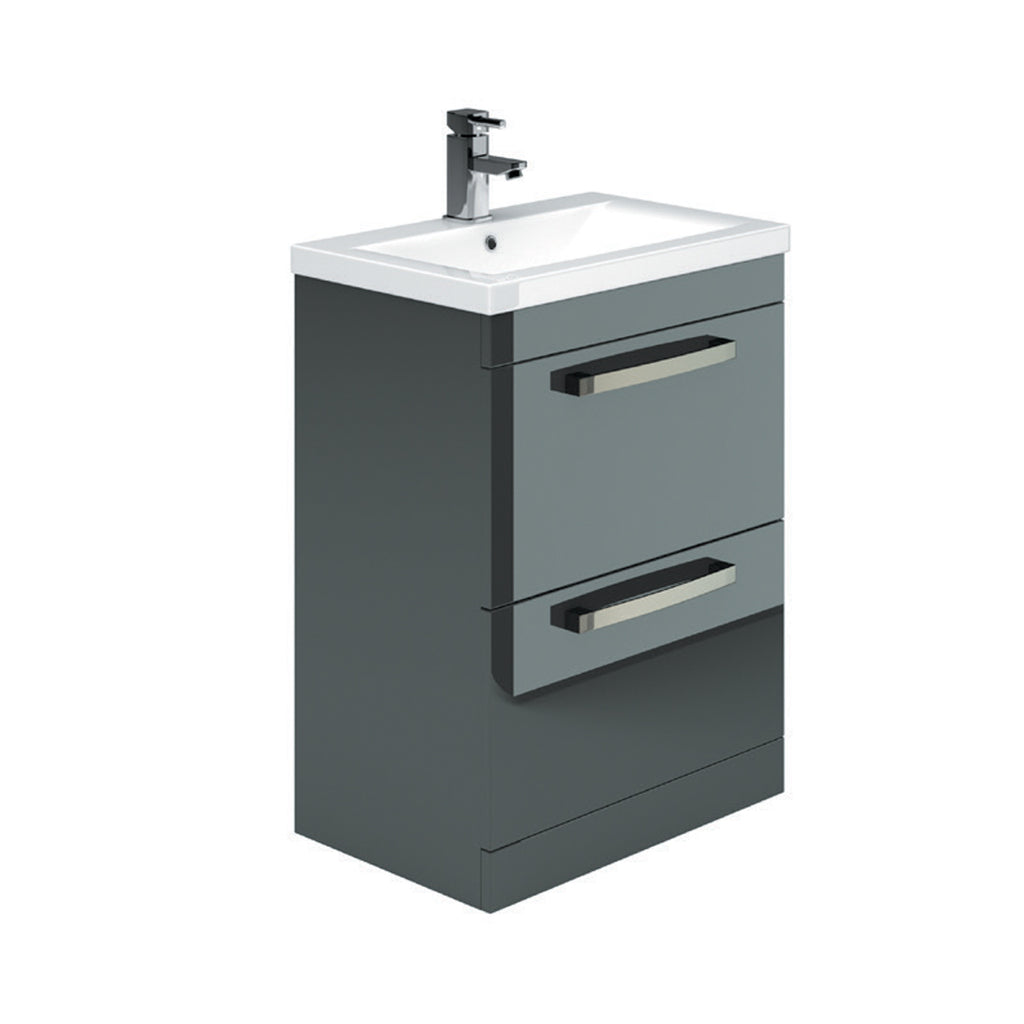 Manor Floor Standing 2 Drawer Vanity Unit & Basin