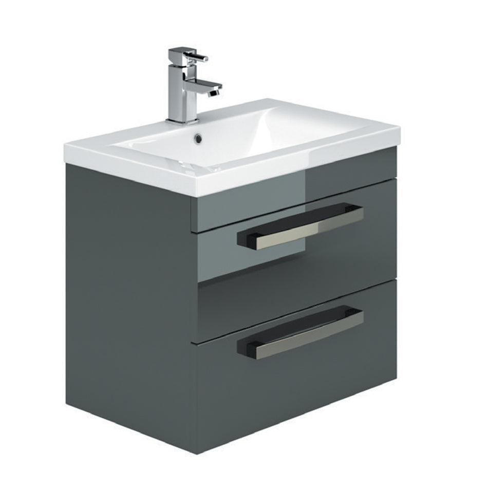 Manor Wall Hung 2 Drawer Vanity Unit & Basin