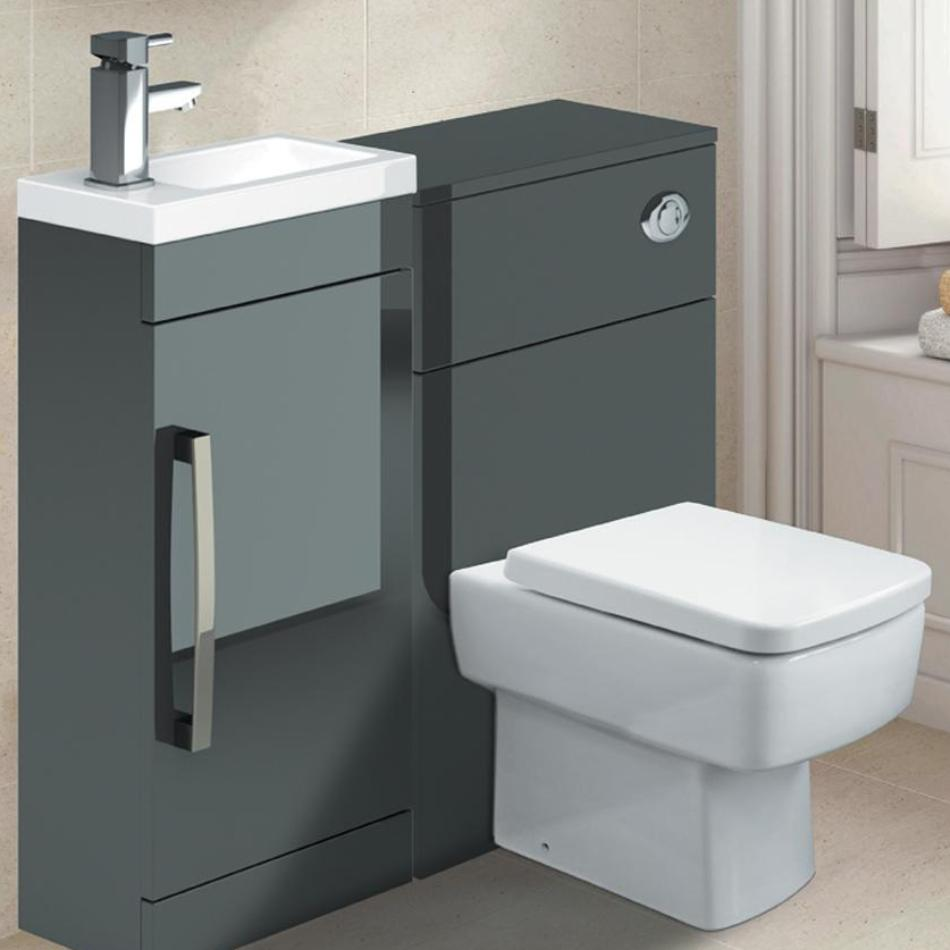 Manor Gloss Clay Cloakroom Suite
