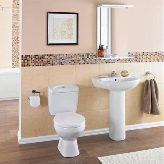 Melbourne L Shape Bathroom Suite (RRP £683)