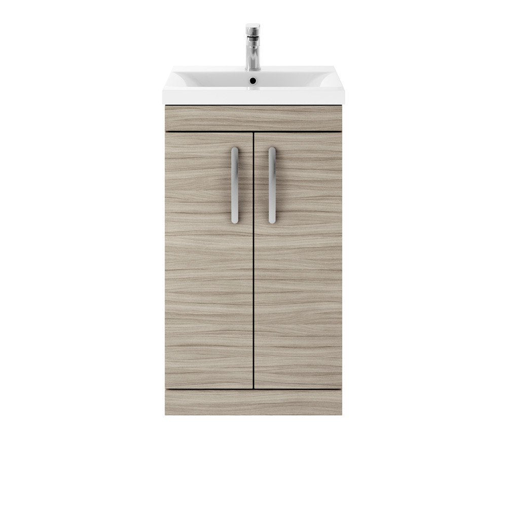 Athena 2 Door 600mm Floor Standing Vanity Unit & Basin