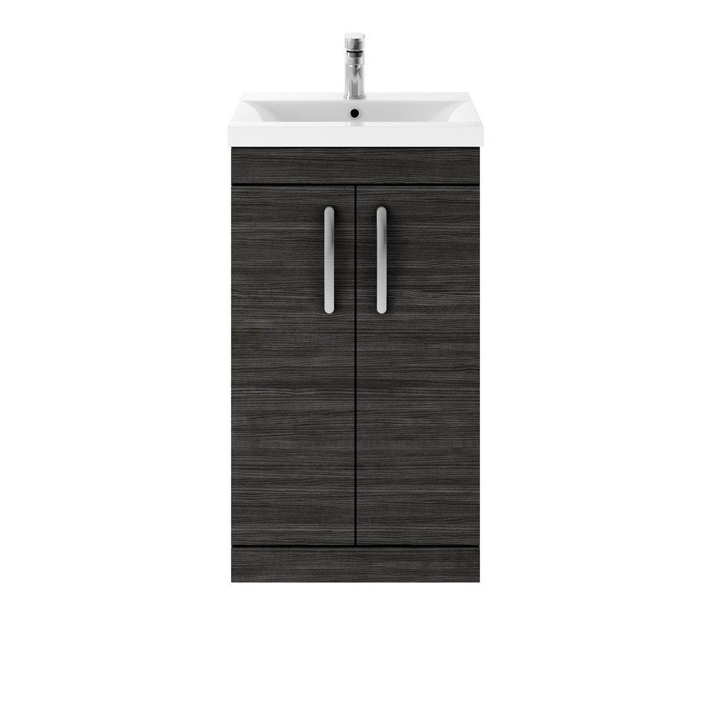 Athena 2 Door 500mm Floor Standing Vanity Unit & Basin